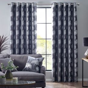 Enchanted Forest Eyelet Lined Curtains