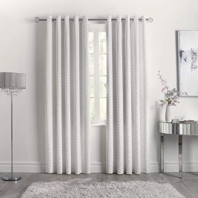 Caprice Home Faye Eyelet Curtains