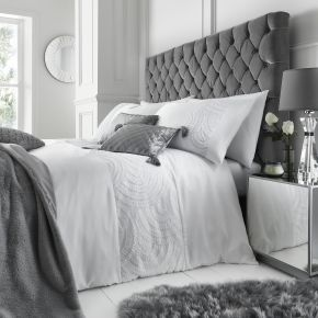 Caprice Home Bardot Duvet Set White