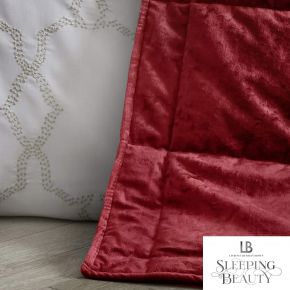 Laurence Llewelyn-Bowen Concierge Crushed Velvet Bedspread Claret