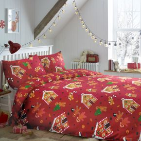 Bedlam Gingerbread Duvet Cover Set Red