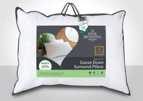 The Fine Bedding Goose Down Surround Pillow