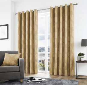 Curtina Helsinki Lined Eyelet Curtains