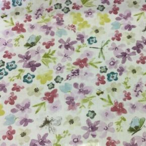 Hidcote PVC Fabric Tablecloth Lilac