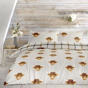 Fusion Highland Cow Duvet Set Ochre