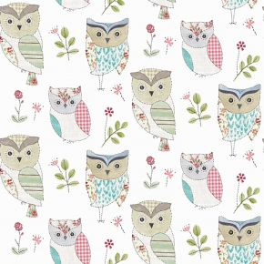 Hoot PVC Fabric Tablecloth Sage