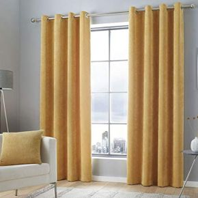 Kilbride Cord Eyelet Curtains By Curtina