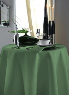 Festive Forest Green Plain Dyed Table Linen