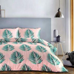 Fusion Leaves Duvet Set In Green