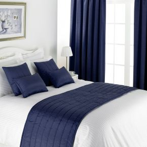 Lewis Collection Inherently Flame Retardant Blackout Lined Curtains with Eyelet Heading