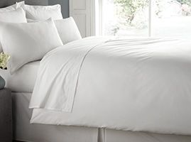 Luxury Percale Duvet Cover with Stud Fastening