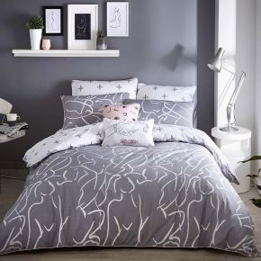 Appletree Muse Duvet Set In Grey