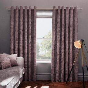 Naples Luxury Embossed Velvet Eyelet Curtains and Accessories by Studio G