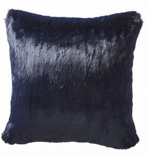 Karen Millen Faux Fur Square Cushion In Midnight