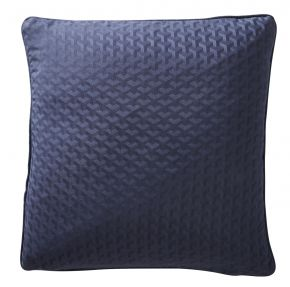 Karen Millen Geo Jacquard Square Cushion In Midnight