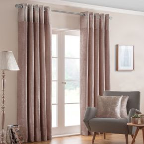 Nova Shimmer Eyelet Lined Curtains