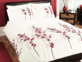 Dreams N Drapes Oriental Flower Duvet Cover Set