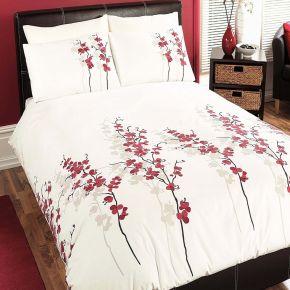 Dreams N Drapes Oriental Flower Duvet Cover Set