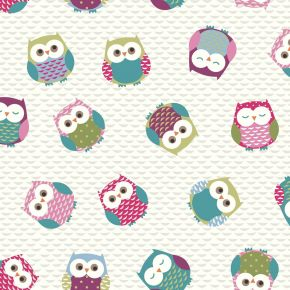 Owl PVC Fabric Tablecloth - Multi