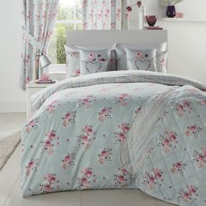 Penelope Duvet Set Duck egg