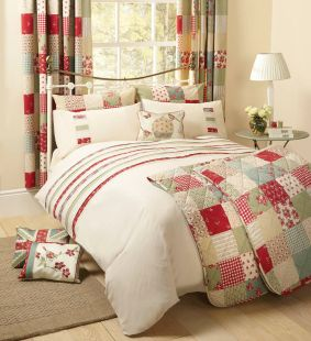 Dreams N Drapes Petticoat Single Duvet In Red