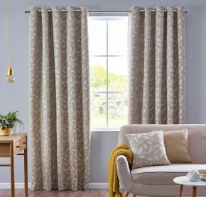 Pippa Eyelet Lined Curtains