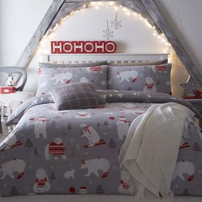 Bedlam Christmas Polar Bears Duvet Set