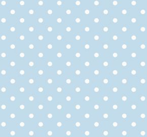 Polka PVC Fabric Tablecloth Blue