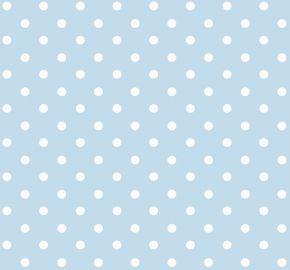 Polka PVC Fabric Tablecloth Blue