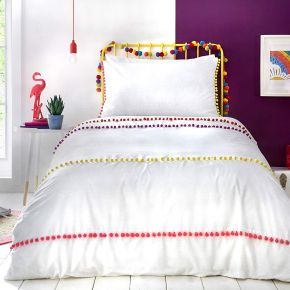 Appletree Kids Pom Pom Duvet Set In Multi