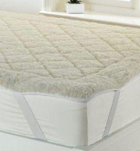 Quilted Wool Fleece Topper