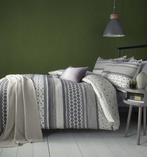 Fusion Retrace Stripe Duvet Set