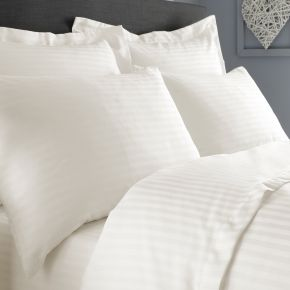 Musbury Fabrics Flame Retardant Satin Stripe Bed Linen