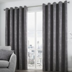 Solent Curtains with Eyelet Heading by Curtina