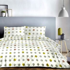 Fusion Spots Duvet Cover Set In Ochre