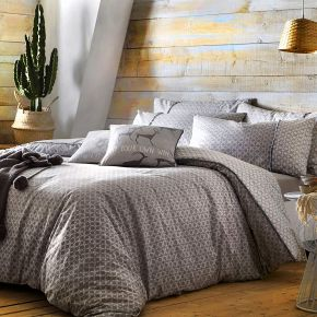 Appletree Strata 100% Cotton Duvet Cover Set In Slate