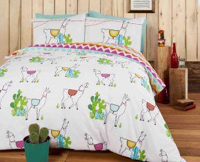 Happy Llamas Duvet Cover Set