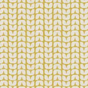 Tulip PVC Fabric Tablecloth Ochre