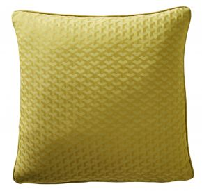 Karen Millen Geo Jacquard Square Cushion In Turmeric