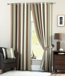 Fusion Whitworth Lined Eyelet Curtains