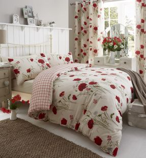Catherine Lansfield Wild Poppies Duvet Set and Accessories
