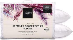 Nimbus Softened Goose Feather Pillow Pair