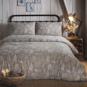 Fusion Winter Forest Brushed Cotton Duvet Set Linen