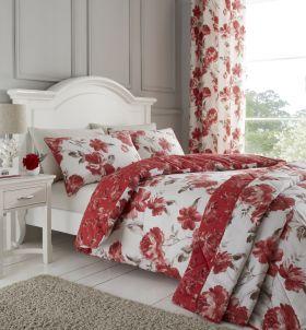 Catherine Lansfield Painted Floral Duvet Set